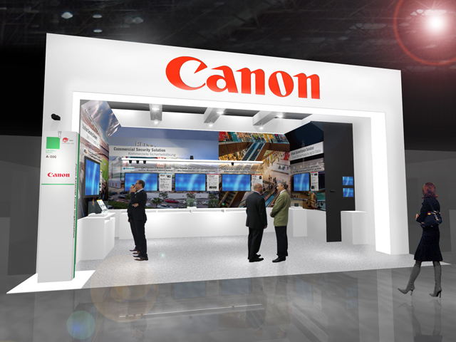 The Canon booth (CG rendering)