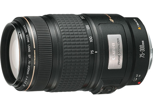 EF75-300mm f/4-5.6 IS USM<br>Released in Japan in<br>March 1995