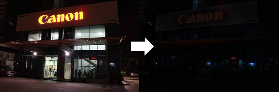 The lights go out at Canon Marketing (Malaysia) Sdn. Bhd.'s Penang branch office