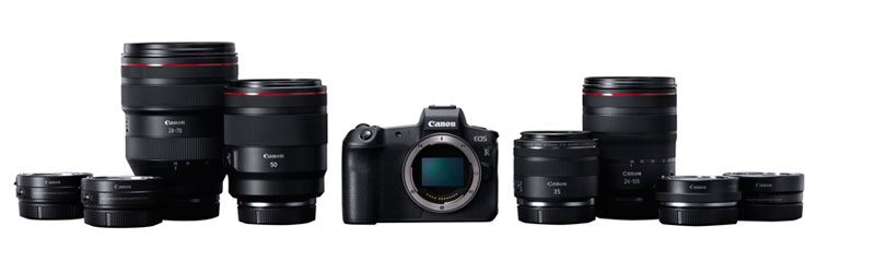 The EOS R System, including RF lenses
