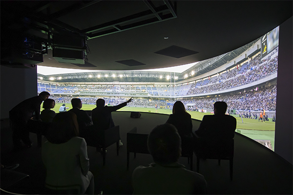Immersive live viewing at Canon HQ