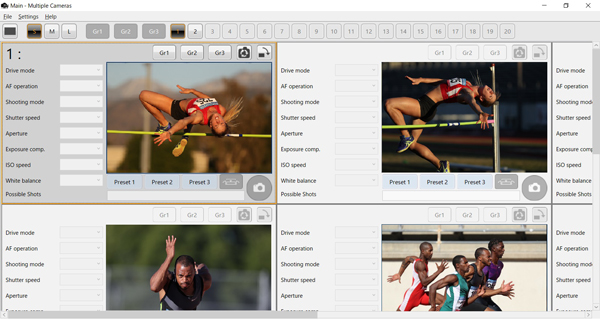Camera Remote Application(Photos shown in the software's image preview window are conceptual images)