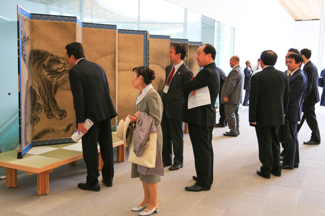 'Dragon and Tiger' opened to the public after the ceremony