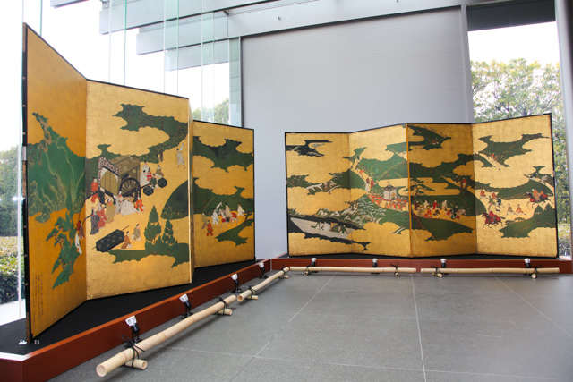 Reproductions of Tosa Mitsuyoshi's 'Scenes from The Tale of Genji' were donated to Byodoin Temple