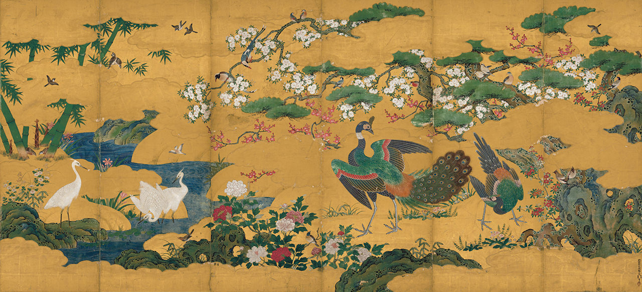 「Flowers and Birds of the Four Seasons」 Kano Motonobu
