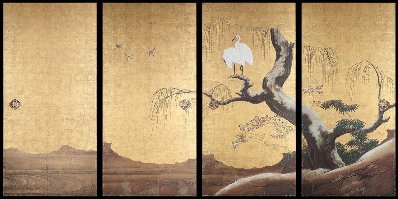 Frolicking Birds in Plum and Willow Trees |About the Works|TSUZURI ...