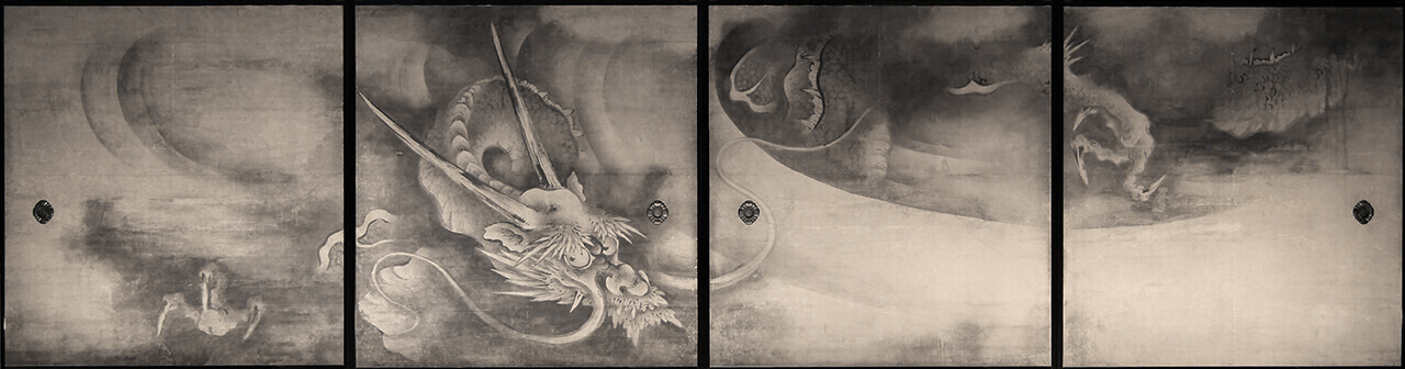 「Dragons and Clouds from the abbot chambers of Kenninji-temple 」 Kaiho Yusho
