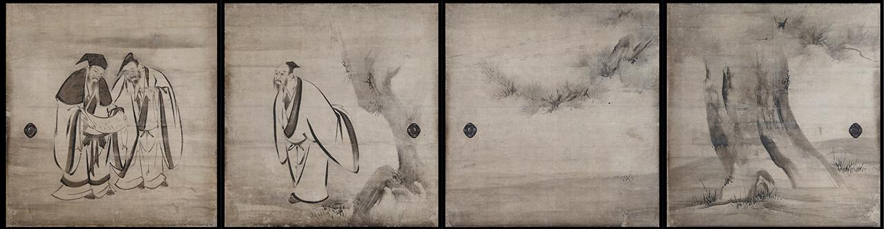建仁寺方丈障壁画 竹林七賢図襖|作品紹介|綴プロジェクト